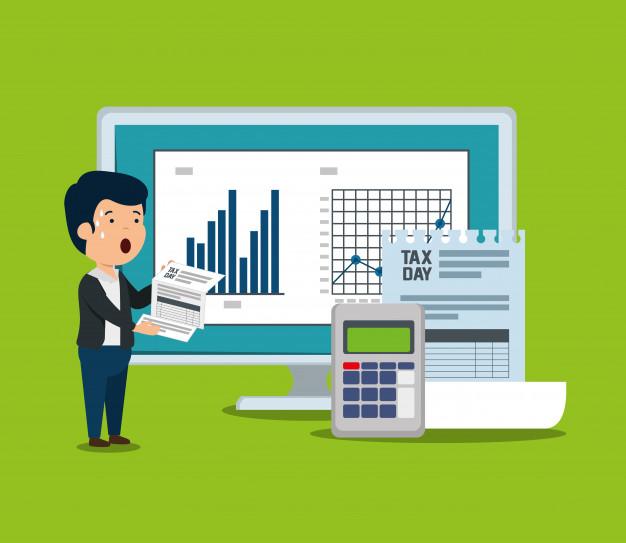 statistics bar with invoice document dataphone 24877 53406 - Pengisian E-Faktur