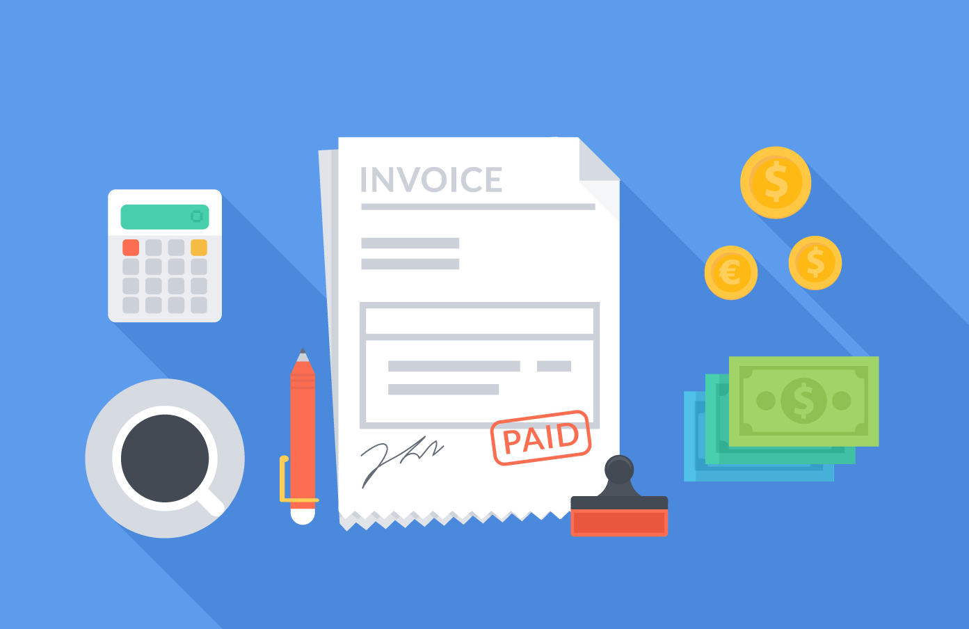 free vector invoice concept - Account Payable Management