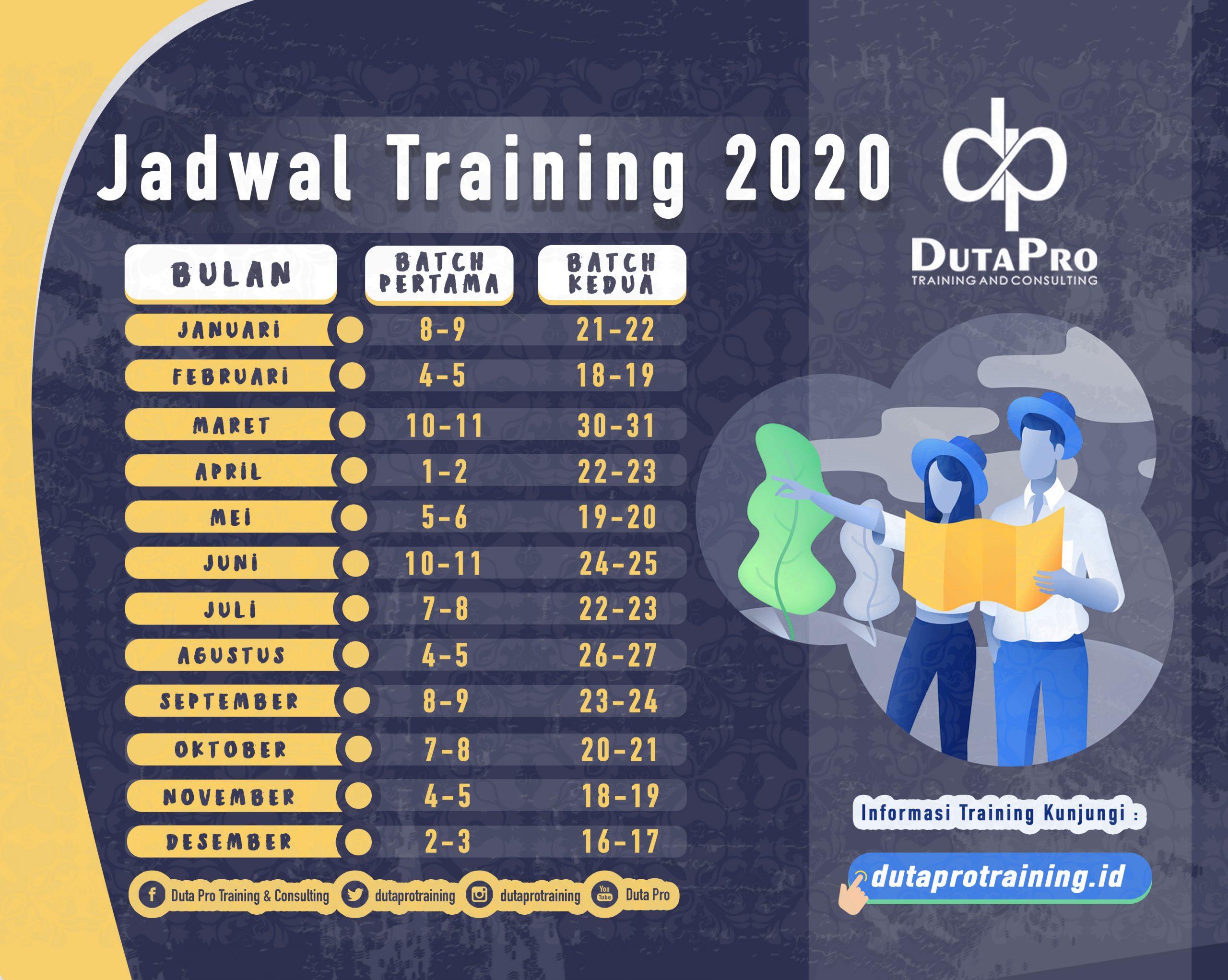 Jadwal Training 2020 Duta Pro