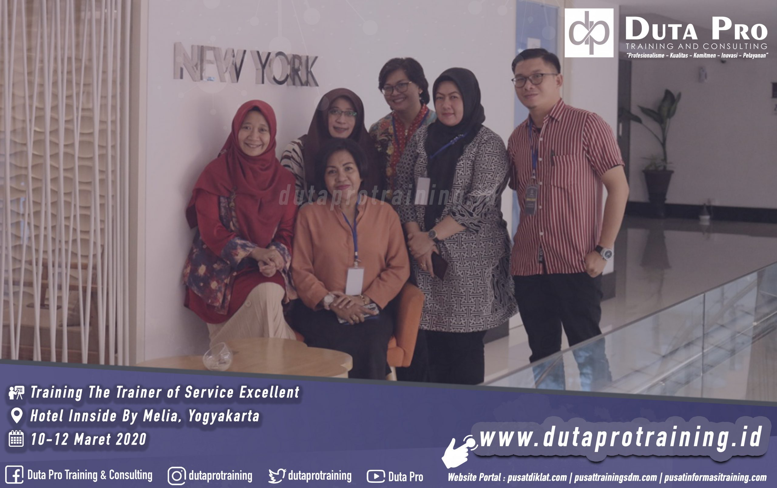 Training The Trainer of Service Excellent Hotel jogja duta pro. Galeri Website