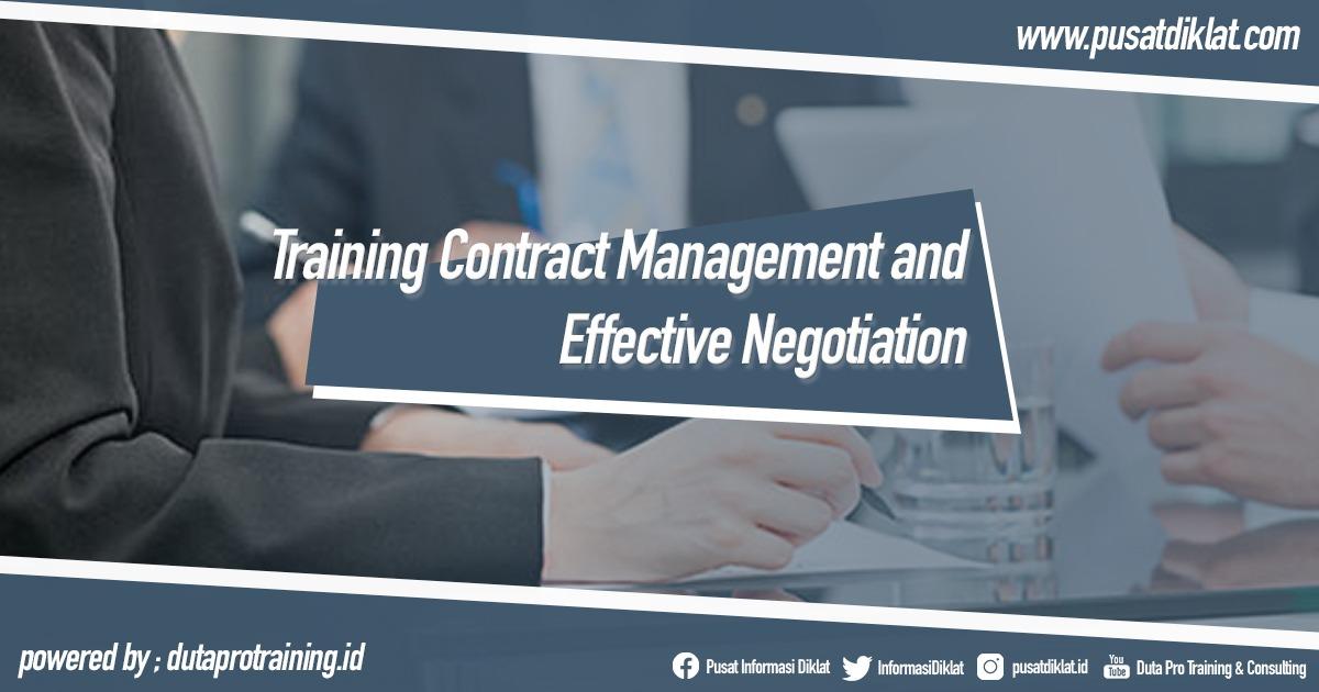 Training Contract Management and Effective Negotiation Informasi Pusat Pelatihan Diklat SDM Jogja Jakarta Bandung Bali Surabaya - Training Contract Management and Effective Negotiation