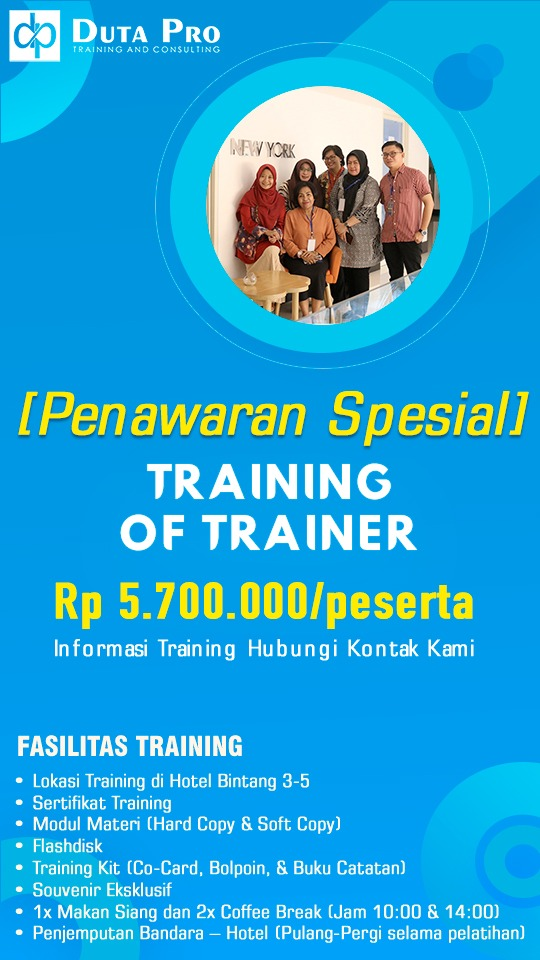 Training of Trainer TOT Murah