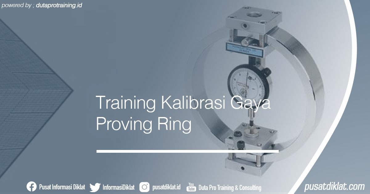Training Kalibrasi Gaya Proving Ring Informasi Jadwal Training Diklat SDM Jogja Jakarta Bandung Bali Surabaya