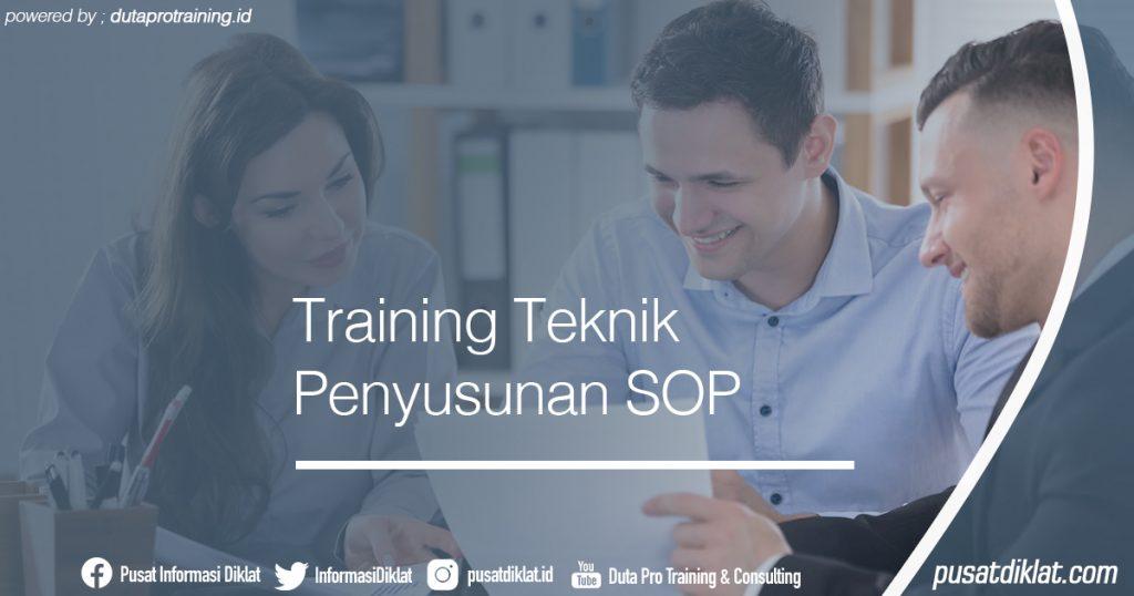 Training Teknik Penyusunan SOP Informasi Jadwal Training Diklat SDM Jogja Jakarta Bandung Bali Surabaya