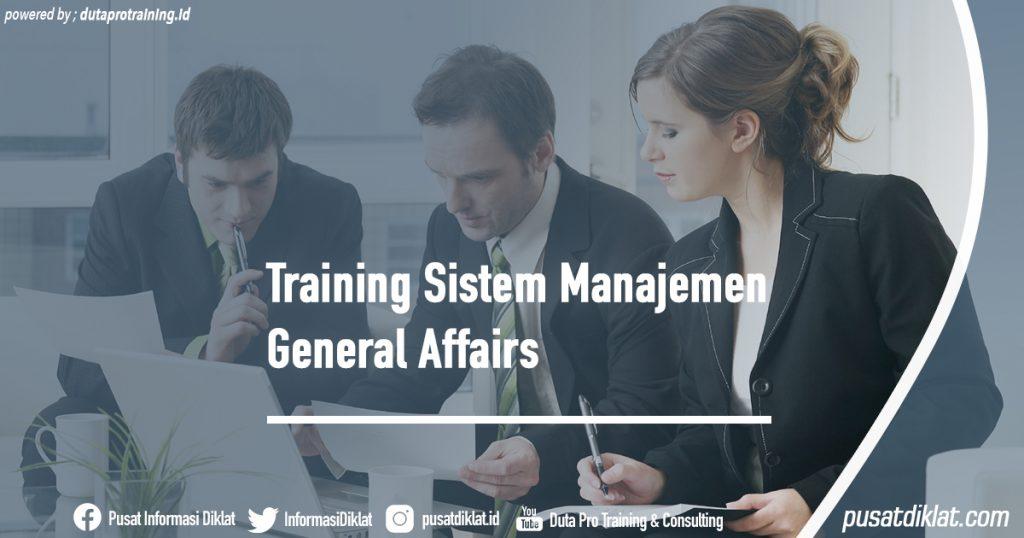 Training Sistem Manajemen General Affairs Informasi Jadwal Training Diklat SDM Jogja Jakarta Bandung Bali Surabaya