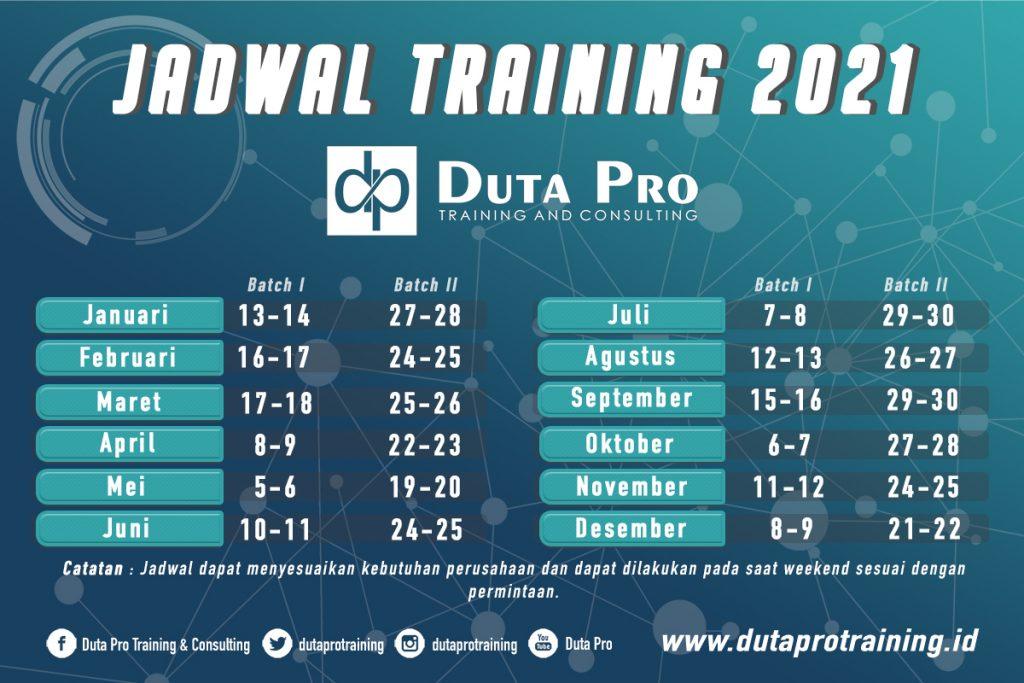 Jadwal Pelatihan 2021 Terbaru